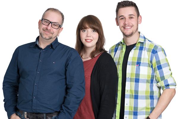Sascha Polzin, Annalena Grotheer und Marc-André Kohrt