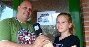 Angelina besucht Sportjugend-Lagerleiter (LaLei) Michael