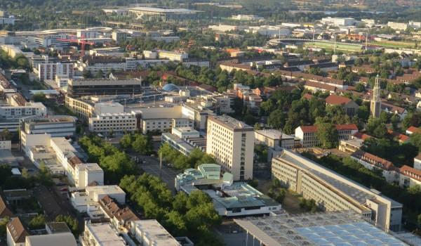 Wolfsburg von oben.