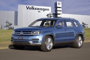 Neues Midsize-SUV von Volkswagen wird in Chattanooga produziert. Foto: Volkswagen AG